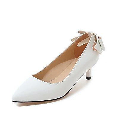 Zormey Frauen Heels Frühling Sommer Formelle Schuhe Aus Lackleder Hochzeit Party & Amp; Abendkleid Kätzchen Ferse Bowknot US4-4.5 / EU34 / UK2-2.5 / CN33