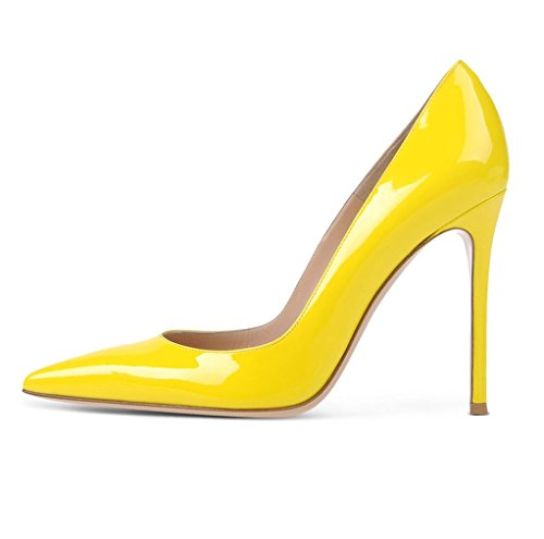 EDEFS - Scarpe da donna - High Heels Sexy - Scarpe col tacco - Tacchi a Spillo - Giallo - Taglia EU36
