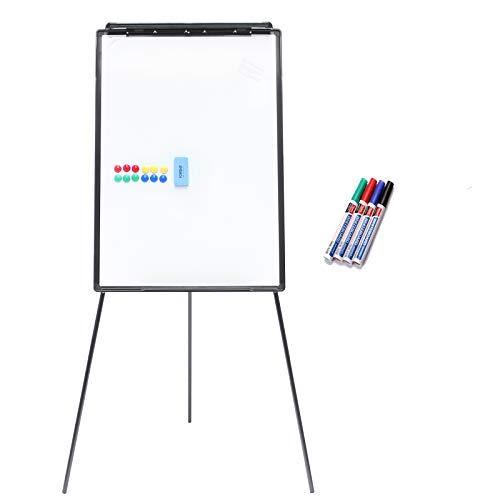 Yorbay 2-in-1 Flipchart und Whiteboard in 70 x 100 cm mit Dreibein Ständer (Upgrad Version)