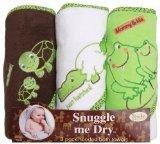 : Frosch/Alligator/Schildkröte mit Kapuze Badetuch Set, 3-pack