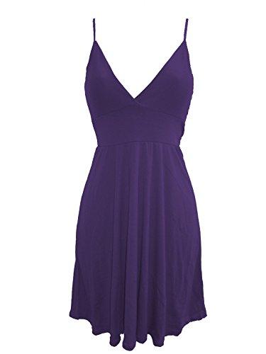 Flirty Wardrobe Mini robe Patineus'à bretelles + Taille 36–50 Violet - Violet