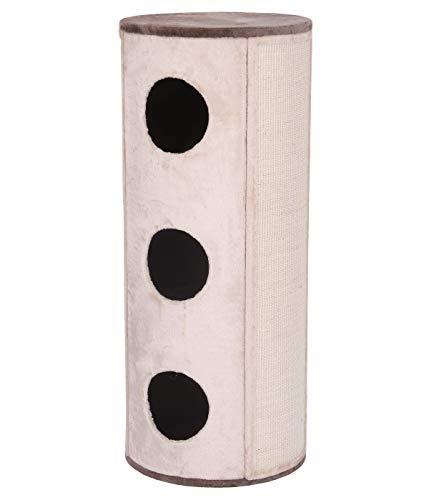 Dehner Katzen-Kratzbaum Buster, Ø 50 cm, Höhe 120 cm, Sisal/Plüsch, beige -