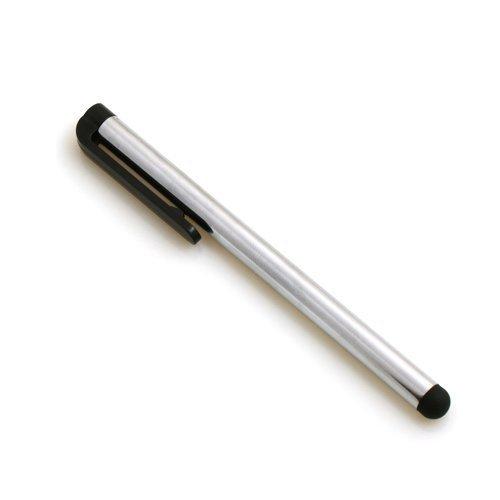 System-S Stylus Touch Pen kapazitiver Bildschirm Eingabe Stift in Silber für Smartphone, Touchscreen Handy, Tablet PC, PDA Pda Stylus Touch Pen