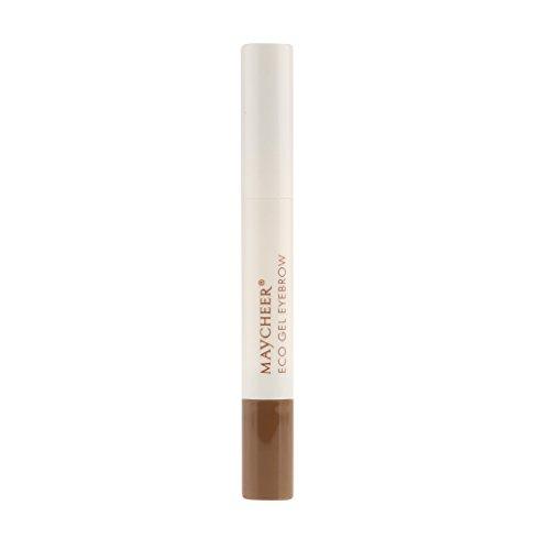 Homyl 3 Couleurs Naturel Longue Durée Gel à Sourcils Imperméable Crème de Teinture des Sourcils Beauté Maquillage - Café Lumière