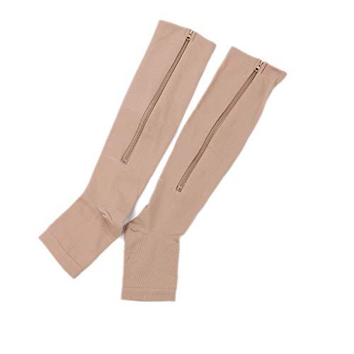 Provide The Best Damen Herren Kompressionssocken Sport Druck Hoch Sockings Schmerzlinderung Zip Socken -