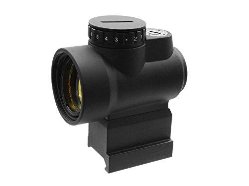 BEGADI 1x25 Airsoft Reddot/Short Dot -mit QD Riser Mount für Weaver Schienen (20-23mm) - schwarz