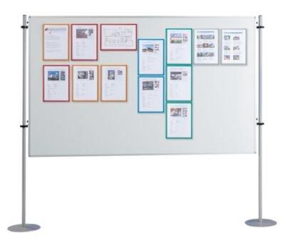 QUIPO Magnettafel - weiß, mit Metallstativ - BxT 1500 x 1200 mm - Besprechungswand Informationssystem Infotafel Infowand Infowände Moderationswand Whiteboard
