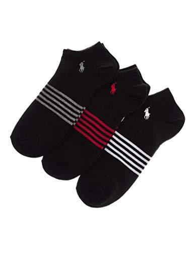 Ralph Lauren - Socken 3er Pack mit Streifen 827152PKSR BLACK - eine Größe, Schwarz (Lauren-socken Für Ralph Männer)