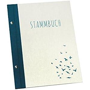 Stammbuch A4 Handgebunden Vögel