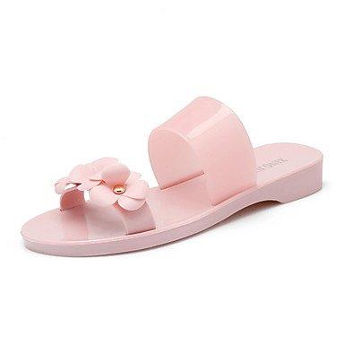 zhENfu donna pantofole & amp; flip-flops sandali Comfort luce suole di scarpa trasparente di materiale personalizzato Gel di silice abiti estivi CasualFlower Almond