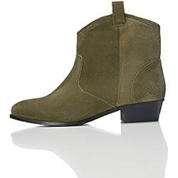 find. Botines de Ante Estilo Vaquero para Mujer, Verde (Khaki), 38 EU