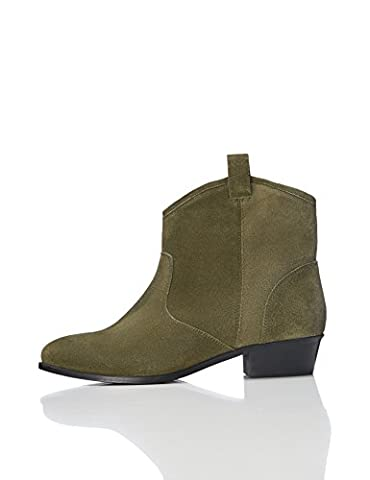 FIND Western Pull-On215, Womens Desert Boots, Green (Khaki), 6 (39 EU)