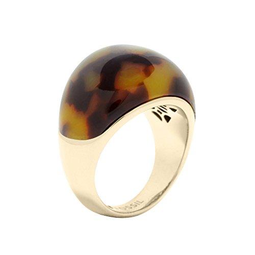 Fossil Damen-Ring Edelstahl Kunststoff Gr.53 (16.9) JF00709710-6.5