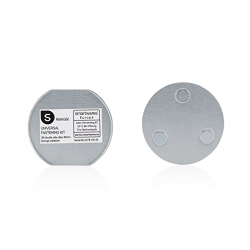 Smartwares RMAG60 Magnetbefestigung für Rauchmelder, 6cm Durchmesser, Silber, 6 cm