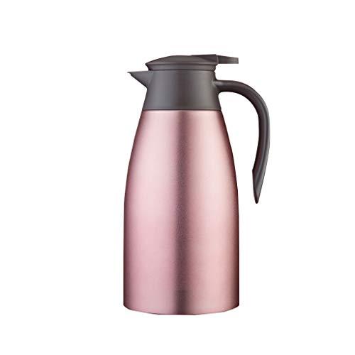 WLHW Trinkflaschen 1,5 Liter Vakuumisolierung Topf, Kaffee Karaffe Heimgebrauch Thermische Flaschen Edelstahl Hotel Restaurant Tee Po (Farbe : Brown) - Braun Schwarz Karaffe
