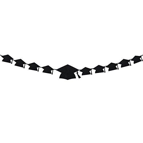 OULII Abschluss-Fahnen-Doktorhut-geformte Foto-Fahnen-Girlande mit Klipp-Foto-Stützhintergrund für Abschluss-Partei-Bevorzugungen