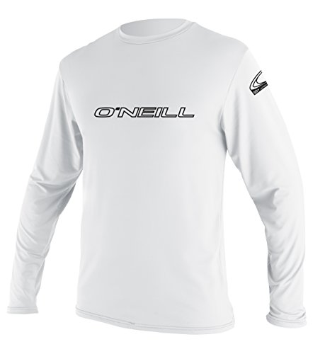 ONEILL WETSUITS O'Neill Wetsuits Herren Basic Skins L/S Tee Rash Vest, White, XL