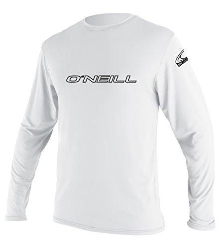 O'Neill Wetsuits Herren Basic Skins L/S Rash Tee Vest, White, L