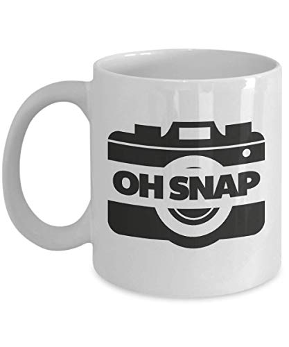 Oh, Snap! Funny Pun Camera Themed Coffee & Tea Gift Mug Cup For Men & Women Photographers
