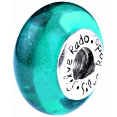 Cristallo Silverado 'Castello' Morano vetro, adatto a braccialetti Pandora, Chamilia e Troll - Silverado Cristallo