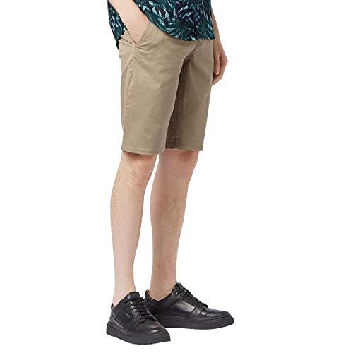 BOSS Bermuda Schino-Slim Shorts aus doppelt gefärbtem Stretch-Satin beige 263 (32) -