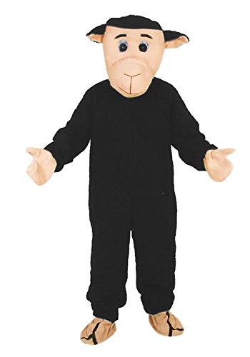 Schaf schwarz Einheitsgrösse XXL Kostüm Karneval Fasching