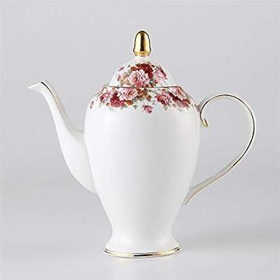 mangege Vintage Bone China Tea Pot avec Infuseur Europe Porcelaine Cafetière 1000ml Céramique Théière Café Théière Drinkware Guirlande