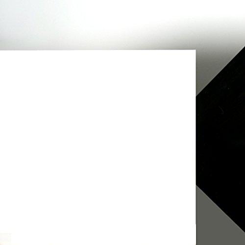 Acrylglas Platte weiß gedeckt, Lichtdurchlässigkeit 3%, Maße 100 x 50 x 0,3 cm