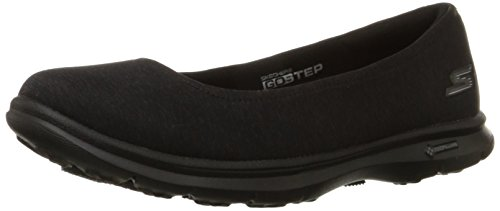 SKECHERS Go Step-Challenge Damen Sneaker Slipper schwarz, Black, 38