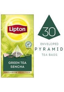 Lipton Green Tea Sencha Exclusive Selection Pyramid 30 Tea bags per box 6 Boxes