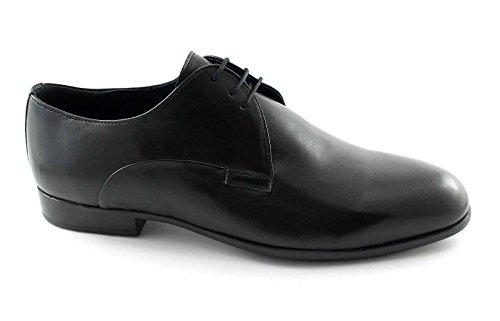 MELLUSO U24400 chaussures noires homme élégant derby peau lisse Nero