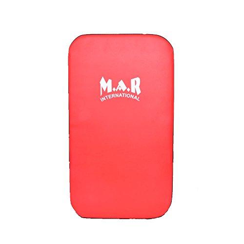 M.A.R International Ltd.. kräftigen Shield Thai Boxing Equipment MMA Sparring Gear Kickboxen Pads Boxing Training Supplies Flach Standard Rot/Schwarz Flach Standard (Rdx Boxing Equipment)