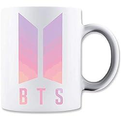 LukeTee BTS Coloured Logo Taza para Café y Té