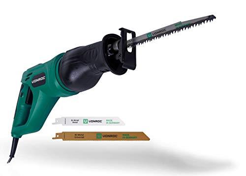 VONROC Scie sabre 900 W - Poignée rotative - Sac de rangement et 3 lames de scie (fabriqué en Allemagne)