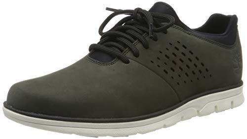 Timberland Herren Bradstreet Perforated Plain Toe Oxford Schuhe, Grün (Dark Green Nubuck), 43 EU
