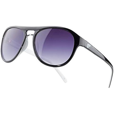 Kawasaki tempo libero occhiali da sole Nero nuovo di bikerworld