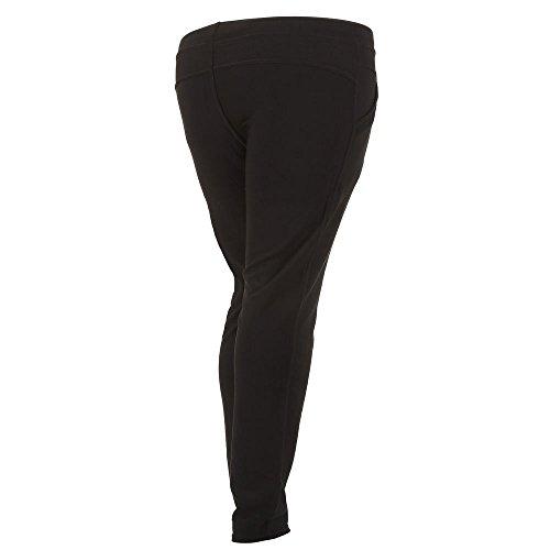 Plus Size Treggings Skinny Hose Für Damen bei Ital-Design Schwarz