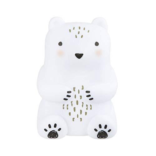 Sass & Belle Deko-Leuchte Nachtlicht Lampe Bär weiß schwarz 10x15cm -