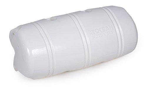 wellenshop Ocean Dock Fender Stegfender 220 x 640 mm Weiß 3/4 Form