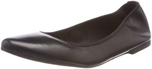 Tamaris Damen 22128 Geschlossene Ballerinas, Schwarz (Black Leather), 40 EU