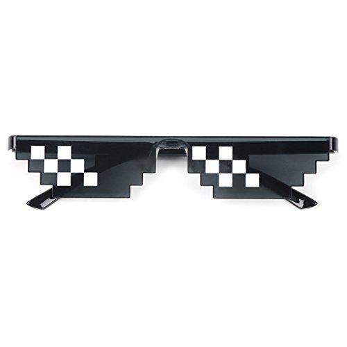 GET Fresh Unisex Black Mosaic Sonnenbrillen, lustige Spielzeuge, Thug Life Brille Deal mit ihm Brille Pixel