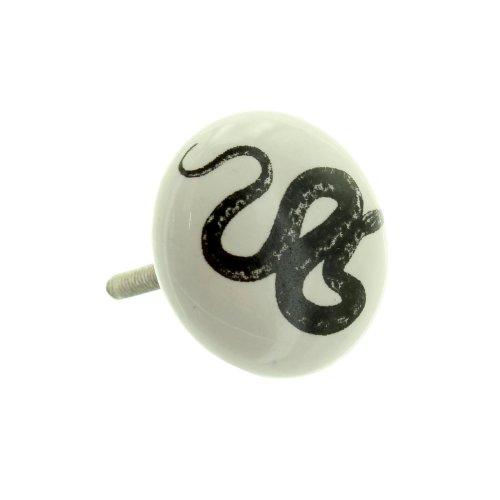 Pomello per mobili in porcellana Snake 406White - Snake Porcellana
