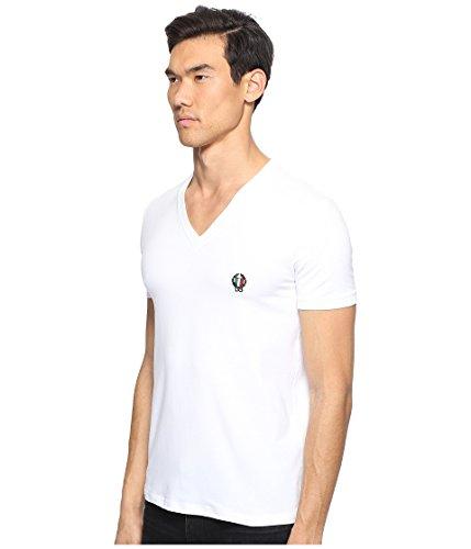 Dolce&Gabbana Underwear Herren T-Shirt Deep V-Neck, Stretch S-XL - Farbauswahl Weiß