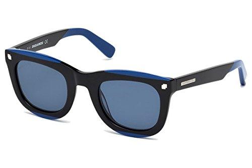 Dsquared2 - milo dq 0223, geometrico, acetato, uomo, black blue/blue(05v), 49/25/145