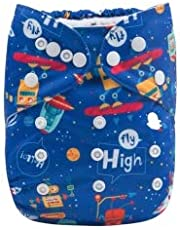 Tinytots Alva Baby Charcoal Bamboo All in one Cloth Diaper Flyhigh