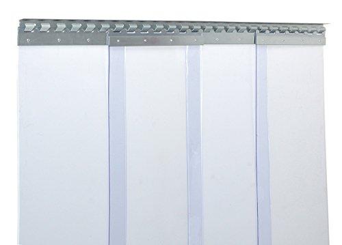 PVC Streifenvorhang Lamellen 3x300mm - H3,00 x B2,00 m - fertig vormontiert - VZ