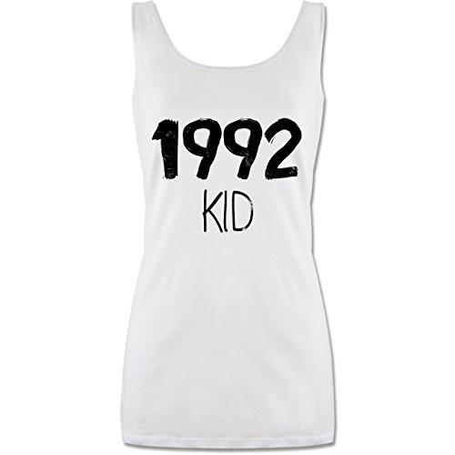 Geburtstag - 1992 Kid - Lang-Geschnittenes Tanktop für Damen Weiß