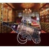 MIWENContinental Kreative Eisen Speicher Bronze Netto Blüte Rotwein Rack 33 * 9 * 22cm Wohnzimmer Tabelle 1 Flaschen 750ML Wein