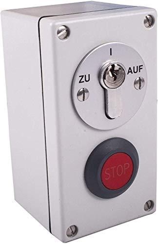 Schlüsseltaster aufputz zweiseitig tastend mit Stoppfunktion Torantriebe Garagentorantriebe Hörmann (Verschiedenschließend)