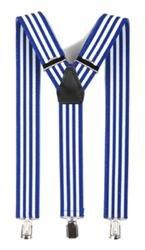 Hosenträger Y Form: blau weiß gestreift